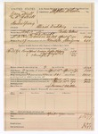 1890 April 15: Voucher, U.S. v. Dave Hull (alias William Hull) and Hardin Young, illicit distilling; includes cost of lodging, mileage, and feeding prisioner; Paden Tolbert, deputy marshal; J. Harmon, A.B. Allen, guards; Stephen Wheeler, commissioner