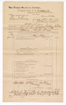 1890 June 30: Voucher, U.S. v. Edward Dray, assault with intent to kill; includes cost of warrant, mileage, and witness; Joe Trap, et al, witnesses; F.P. Isbell, deputy marshal; Stephen Wheeler, commissioner; Jacob Yoes, U.S. marshal