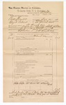 1890 June 30: Voucher, U.S. v. Bill Handrel and Elijah Palical, introducing spiritous liqours; includes cost of warrant, mileage, and witness; A. Court et al, witnesses; F.P. Isbell, deputy marshal; Stephen Wheeler, commissioner; Jacob Yoes, U.S. marshal