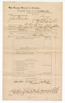 1890 June 30: Voucher, U.S. v. John Balantine, larceny; includes cost of warrant, mileage, and witness; Jay Smith et al, witnesses; F.P. Isbell, deputy marshal; Stephen Wheeler, commissioner; Jacob Yoes, U.S. marshal