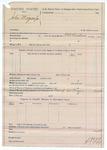 1890 March 21: Voucher, U.S. v. John Morgan Jr.; includes cost of warrant; R.B. Creekman, deputy marshal