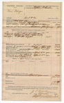 1890 June 30: Voucher, U.S. v. Neal Newgen, introducing spiritous liqours; includes cost of mileage, lodging, and feeding of prisioner; C.L. Bouden, deputy marshal; Stephen Wheeler, commissioner; J.M. Dodge, deputy clerk; Jacob Yoes, U.S. marshal