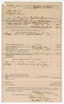 1890 June 30: Voucher, U.S. v. Sam Hunt and Hugh Jackson, embezzling registered money; includes cost of mileage, lodging, and feeding of prisioner; R.B. Creekman, deputy marshal; T.J. McClure, witness; Stephen Wheeler, commissioner; J.M. Dodge, deputy clerk; Jacob Yoes, U.S. marshal