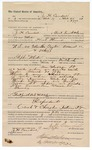 1890 April 9: Voucher, to J.H. Cawdell, of Fort Smith, Arkansas, for assisting Heck Thomas, deputy marshal, in U.S. v. Martha Taylor, assault; Stephen Wheeler, commissioner; J.M. Dodge, deputy clerk; Jacob Yoes, U.S. marshal