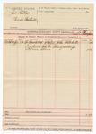 1890 April 02: Voucher, U.S. v. Parss Cantrell; John B. White, witness subpoena; George M. Thompson, deputy marshal
