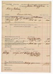 1890 April 9: Voucher, U.S. v. Henry Anderson, assault with intent to kill; includes cost of mileage, lodging, and feeding of prisioner; John Haley, Della Snow, One Chappe, witnesses; William Foreman, deputy marshal; James Brizzolara, commissioner; Jacob Yoes, U.S. marshal