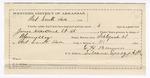 1890 April 4: Voucher, U.S. v. George Roach, George W. Hughs, James Naked Head, larceny; includes cost of mileage, lodging, and feeding of prisioners; Jack Luther, D.C. Dye, One Lowe, H.A. Blackman, witnesses; B. Connelley, deputy marshal; Richard Burks, posse comitatus; E.H. Bruner, guard; James Brizzolara, commissioner; Stephen Wheeler, clerk; J.M. Dodge, deputy clerk; Jacob Yoes, U.S. marshal