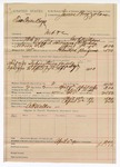 1890 April 11: Voucher, U.S. v. two Texas boys (Walford Lawrence, J.D. Nichols), introducing spiritous liqours; includes cost of mileage, lodging, and feeding of prisioner; George E. Williams, deputy marshal; A.P. Walker, posse comitatus; James Brizzolara, commissioner