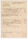 1890 April 26: Voucher, U.S. v. Joe Banks, Adam Banks, Annie King, murder; includes cost of warrant, mileage, lodging, and feeding of prisioner; Floyd Wilson, deputy marshal; Robert Cox, posse comitatus; James Brizzolara, commissioner