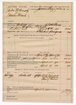 1890 April 19: Voucher, U.S. v. John McCrusk and James Brach; includes cost of warrant, mileage, witnesses, and feeding prisoners; B.T. Shelbury, deputy marshal; W.H. Driscoll, William Robeson, Henry Brown, witnesses; James Brizzolara, commissioner