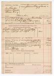1890 April 26: Voucher, U.S. v. Joe Banks, Adam Banks, Annie King, murder; includes cost of warrant, mileage, feeding of prisioner; warrant served by Floyd Wilson, deputy marshal; Robert Cox, posse comitatus; James Brizzolara, commissioner