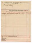 1890 April 30: Voucher, U.S. v. Cyrus Williams; includes cost of subpoena; B. Colbert, deputy marshal; Rhody Moore, witness
