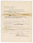 1890 May 23: Warrant, U.S. v. John Harris, murder; E.B. Ratterree, deputy marshal; Stephen Wheeler, commissioner