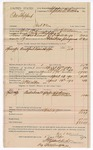 1890 April 17: Voucher, U.S. v. One Shepperd, introducing spiritous liqours; includes cost of warrant, mileage, feeding prisioner; George E. Williams, deputy marshal; A.P. Walker, posse comitatus; Stephen Wheeler, commissioner; J.M. Dodge, deputy clerk; Jacob Yoes, U.S. marshal