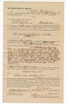 1890 April 5: Voucher, to Robert Cogburn of Fort Smith, Arkansas, for assisting C.L. Bouden, deputy marshal, in U.S. v. David Rogers, introducing spiritous liqours; Joseph Keno, Ellis Knight, Thomas Welch, arrested; James Brizzolara, commissioner; Jacob Yoes, U.S. marshal
