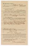 1890 April 7: Voucher, to Richard Burk, of Siloam Springs, Arkansas, for assisting B. Connelley, deputy marshal, in U.S. v. George Roach et. al, larceny; James Brizzolara, commissioner; Jacob Yoes, U.S. marshal; D.R. Hammer, notary public