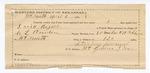 1890 April 3: Voucher, U.S. v. David Rogers, introducing spiritous liqours; includes cost of warrant, feeding prisoner, and witness; James Nakedhead, witness; C.L. Bouden, deputy marshal; Robert Cogburn, posse comitatus; Sterling McDonald, guard; James Brizzolara, commissioner