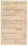 1890 May 11: Voucher, U.S. v. Frank Bonheim, threatening to kill; includes cost of warrant, subsistence, feeding prisoner, and witnesses; S.W. Murphy, Tal Milwer, J.R. Bradley, D. Garland, witnesses; William Ellis, deputy marshal; Stephen Wheeler, commissioner