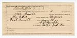1890 April 02: Voucher, U.S. v. One Smith, assault with intent to kill; includes cost of warrant, feeding prisoner, witnesses; William Ellis, deputy marshal; Robert Hill, L.L. Tolan, J. Tolan, John Hiley, witnesses