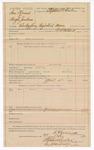 1890 April 28: Voucher, U.S. v. Sam Hump and Hugh Jackson, embezzling registered money; includes cost of deputy and discharging prisoner; R.A. Caldwell, deputy marshal; Stephen Wheeler, commissioner, clerk; J.M. Dodge, deputy clerk; Jacob Yoes, U.S. marshal