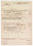1890 May 7: Voucher, U.S. v. William Philips, introducing spiritous liqours; includes cost of warrant, subsistence, feeding prisoner; C.L. Borden, deputy marshal; Robert Cogburn, posse comitatus; Stephen Wheeler, commissioner