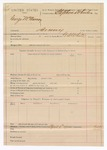 1890 April 4: Voucher, U.S. v. George McMurray, larceny; includes cost of mileage; G.S. White, deputy marshal; Stephen Wheeler, commissioner