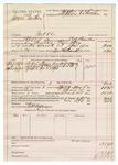 1890 May 5: Voucher, U.S. v. James Panther, introducing spiritous liquors; includes cost of warrant, mileage, feeding prisoner, subsistence; C.L. Bouden, deputy marshal; Robert Cogburn, posse comitatus; Stephen Wheeler, commissioner