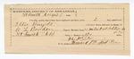 1890 April 04: Voucher, U.S. v. Ellis Knight, introducing spiritous liqours; includes cost of warrant, subsistence, feeding prisoner; C.L. Bouden, deputy marshal; Robert Cogburn, posse comitatus; D.C. Dye, guard; Stephen Wheeler, commissioner