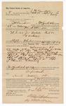 1890 April 9: Voucher, to J.H. Cawdell, of Fort Smith, Arkansas, Heck Thomas, deputy marshal in U.S. v. Joe Welch, introducing spiritous liqours; Stephen Wheeler, commissioner; William Thompson, John Martin, arrested; J.M. Dodge, deputy clerk; Jacob Yoes, U.S. marshal