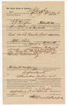 1890 April 8: Voucher, to A.J. Vaughn, of Fort Smith, Arkansas, for assisting Jack Pembertin, deputy marshal, in U.S. v. Lee Pounds et. al., assault with intent to kill; Stephen Wheeler, commissioner; William Williams, arrested; Jacob Yoes, U.S. marshal