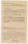 1890 April 9: Voucher, to Milo Creekman, of Van Buren, Arkansas, for assisting Ran B. Creekman, deputy marshal in U.S. v. Bill Taylor, larceny; James Brizzolara, commissioner; Stephen Wheeler, clerk; J.M. Dodge, deputy clerk; Jacob Yoes, U.S. marshal