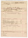 1890 April 8: Voucher, U.S. v. J.B. Ellington, violating internal revenue law; includes cost of warrant, mileage; James K. Pemberton, deputy marshal; Stephen Wheeler, commissioner