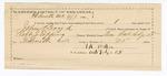 1890 April 9: Voucher, U.S. v. John Boyd, assault with intent to kill; includes cost of warrant, mileage, feeding prisoner, witnesses; Robert J. Topping, deputy marshal; T.R. Walker, guard; Martin Bird, Joseph Bird, witnesses; Stephen Wheeler, commissioner