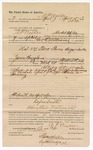 1890 April 18: Voucher, to A.P. Walker, of Hacket City, Arkansas, for assisting George E. Williams, deputy marshal, in U.S. v. Two Texas Boys, introducing spirituous liquor; Charles J. Short, deputy marshal; Stephen Wheeler, commissioner; Jacob Yoes, U.S. marshal