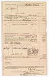 1890 May 24: Voucher, U.S. v. John Harris, murder; includes cost of warrant, mileage, feeding prisoner, witnesses; E.B. Ratterree, deputy marshal; John McMurphy, posse comitatus; Dr. Cox, John McMarty, Levi Woolridge, Will Flint, Lowy Smith, Dr. Harris, Melvin Tucker, witnesses; Stephen Wheeler, commissioner; J.M. Dodge, deputy clerk; Jacob Yoes, U.S. marshal