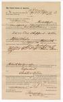 1890 April 18: Voucher, to A.P. Walker, Hacket City, Arkansas, for assisting George E. Williams, deputy marshal, in U.S. v. One Shepperd, introducing spiritous liqours; Stephen Wheeler, commissioner; J.M. Dodge, deputy clerk; Jacob Yoes, U.S. marshal