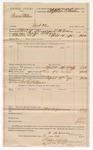 1890 April 16: Voucher, U.S. v. Paxon Watson, introducing spiritous liqours; includes cost of warrant, mileage, feeding prisoner; William M. Newsom, deputy marshal; Stephen Wheeler, commissioner; J.M Dodge, deputy clerk; Jacob Yoes, U.S. marshal