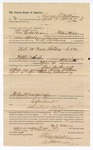 1890 April 16: Voucher, to George E. Williams, of Fort Smith, Arkansas, for assisting W.M. Newsome, deputy marshal, in U.S. v. Paxon Watson, introducing spiritous liqours; Stephen Wheeler, commissioner; J.M. Dodge, deputy clerk; Jacob Yoes, U.S. marshal