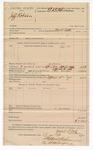 1890 April 17: Voucher, U.S. v. Jeff Robinson; includes cost of feeding prisoner; Mark Little, deputy marshal; Stephen Wheeler, clerk; J.M. Dodge, deputy clerk; E.B. Harrison, commissioner