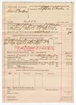 1890 May 5: Voucher, U.S. v. Daniel Backbone, introducting spiritous liqours; includes cost of warrant, mileage, subsistance, feeding prisoner; C.L. Bouden, deputy marshal; Robert Cogburn, posse comitatus; Stephen Wheeler, commissioner