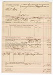 1890 May 24: Voucher, U.S. v. Charles Fogg, introducting spiritous liqours; includes cost of warrant, mileage, feeding prisoner, witness; S.P. McLaughlin, deputy marshal; H. Durham, posse comitatus; George Howell, witness; James Brizzolara, commissioner