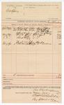 1890 June 2: Voucher, U.S. v. John Hawks; Henry Effert, J.H. Effert, Mrs. N.A. Effert, William Wallace, witnesses; Ran B. Creekman, deputy marshal; Stephen Wheeler, clerk; J.M. Dodge, deputy clerk; Jacob Yoes, U.S. marshal