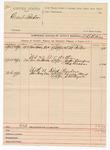 1890 May 5: Voucher, U.S. v. Grant Lanker; W.B. Killin, deputy marshal; S.M. Porter, witness; Jasper Exendue, G. Graham, witnesses in U.S. v. A.V. Arthur; George Ward, J.R. Pugate, witnesses in U.S. v. Dick Pinder