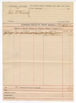 1890 May 4: Voucher, U.S. v. John McKissick; includes cost of witnesses; J.M. Campbell, John Davis, witnesses; E.B. Ratterree, deputy marshal
