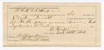 1890 May 5: Voucher, U.S. v. Clayton Pruett, violating internal revenue law; includes cost of feeding prisoner; George W. Thompson, deputy marshal; W.J. Dunlap, guard; E.B. Harrison, commissioner