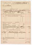 1890 May 5: Voucher, U.S. v. George W. Baker, larceny; includes cost of warrant, mileage, witness; John Childers, deputy marshal; Lindsay Williams, witness; Stephen Wheeler, clerk; Stephen Wheeler, commissioner