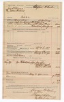 1890 May 3: Voucher, U.S. v. Jim Williams (alias James Hatfield), introducing and selling spiritous liquors; B. Colbert, deputy marshal; Jacob Yoes, U.S. marshal; Ed Givens, posse comitatus; Joe Lee, Ed Milweed, Nathan Harris, Carrie Smith, witnesses; Stephen Wheeler, commissioner; I.M. Dodge, deputy clerk; includes cost of mileage and service