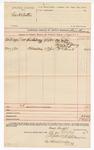 1890 May 15: Voucher, U.S. v. Goerge H. Sutton; Bass Reeves, deputy marshal; Jacob Yoes, U.S. marshal; Mrs. Miller, A.W. Crain, Bessie B. Young, James Orr, William Neal, witnesses; Stephen Wheeler, clerk; I.M. Dodge, deputy clerk