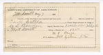 1890 May 7: Voucher, U.S. v. Tuck Catcher, introducing and selling spiritous liquors; C.L. Bouden, deputy marshal; Stephen Wheeler, commissioner; Mark Benge, guard; Robert Cogburn, posse comitatus; includes cost of mileage, service and subsistence for self, horse and prisoner