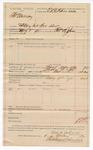 1890 May 9: Voucher, U.S. v. Thomas Murray, violating internal revenue law; Thomas B. Johnson, deputy marshal; Jacob Yoes, U.S. marshal; E.B. Harrison, commissioner; Stephen Wheeler, clerk; includes cost of mileage and feeing prisoner